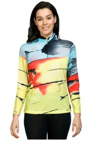 81140-Metamorphosis print sun shirt-601