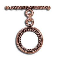 Bali Style Copper Toggle Swirl Design 15.5mm
