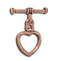 Bali Style Antique Copper Toggle Heart Design 13.5mm