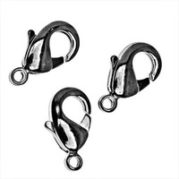 Gun Metal Curved Lobster Clasps 10mm (10)