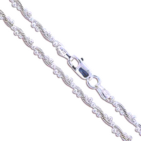 Sterling Silver Snake and Ball Chain