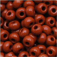 Czech Seed Beads 8/0 Chocolate Brown Opaque (1 ounce)