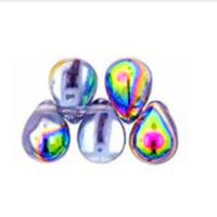 Czech Glass Beads 9mm Teardrop Alexandrite Vitrail (50)