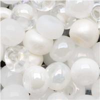Czech Seed Beads 6/0 White Wedding Mix (1 ounce)