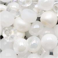 Czech Seed Beads 8/0 White Wedding Mix (1 ounce)