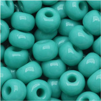 Czech Seed Beads 6/0 Green Turquoise Opaque (1 ounce)