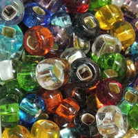 Czech Seed Beads 6/0 Silver Lined Rainbow Mix (1 ounce)