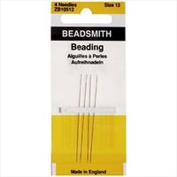 Beadsmith English Beading Needles Size 12 (4 Needles)