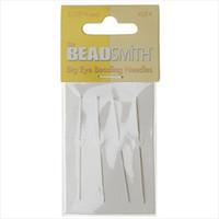 BeadSmith Big Eye Beading Needles 2.125 Inches Long (4)