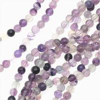 Fluorite 4mm Round Beads 16 In. Strand