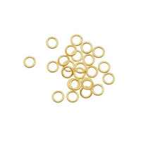 14k Gold Filled Open Jump Rings 4mm 21 Gauge (25)