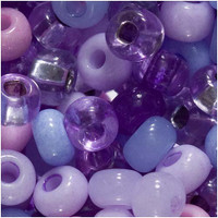 Czech Seed Beads 6/0 Purple Parasols Mix (1 ounce)