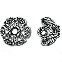 Bali Sterling Silver Filigree Bead Caps 9mm (4)