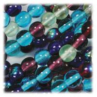 Czech Glass Druk 4mm Round Gemtones Mix (100)
