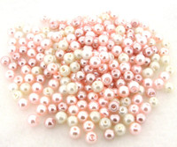 "UnCommon Artistry Glass Pearl Mix 100pcs 8mm - ""Barely Pink"""