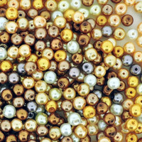 UnCommon Artistry Glass Pearl Mix 200pcs 6mm - Honey Butter Mix