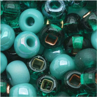 Czech Seed Beads 6/0 Turquoise Fetish Mix (1 ounce)