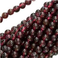 UnCommon Artistry Genuine Garnet Gemstone Beads 4mm Round