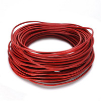 15 Ft of Red Genuine Leather Cord Round 2mm Diameter