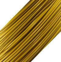 15 feet Genuine Leather Cord - 1mm - Round- Yellow