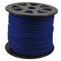Faux Leather Suede Beading Cord, Midnight Blue (20 feet)