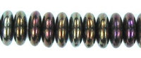 Czech Pressed Glass Rondelle 4mm Brown Iris  (100)