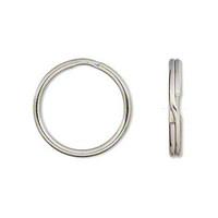 Silver Plated Split Rings Key Rings 24mm (10)