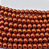 UnCommon Artistry Glass Pearl Beads 200pcs 4mm - Burnt Orange