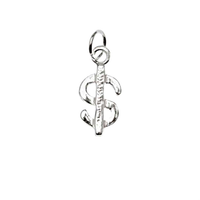 UnCommon Artistry Sterling Silver Dollar Sign Money Charm 14mm (1)
