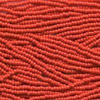 Czech Seed Beads Light Red Opaque 11/0  (Half Hank)