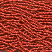 Czech Seed Beads Red Opaque 11/0  (Half Hank)