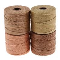 Super-Lon Cord - Warm Neutrals Mix - Four 77 Yard Spools /Size 18 Cord