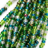 Czech Seed Beads 11/0 Evergreen Mix (Half Hank)