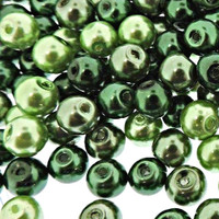 UnCommon Artistry Glass Pearl Mix 200pcs 6mm - Ever Greenery Mix