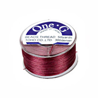 Toho One-G Beading Thread Burgundy, 50 Yard spool