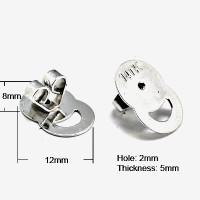 Surgical Steel Magic Earring Lifters  -Earring Backs (10)