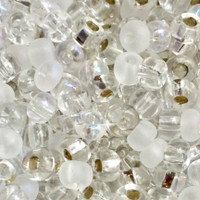 Czech Seed Beads 6/0 Crystal Medley Mix (1 ounce)