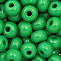 Czech Seed Beads 6/0 Green Opaque (1 ounce)