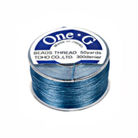 Toho One-G Beading Thread Blue, 50 Yard spool