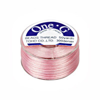Toho One-G Beading Thread Pink, 50 Yard spool