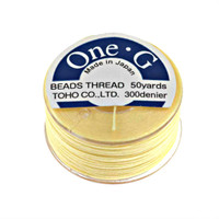 Toho One-G Beading Thread Light Yellow, 50 Yard spool