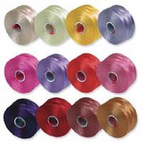 S-Lon Beading Thread Mixture 12 Colors Size D -Flowers Mix