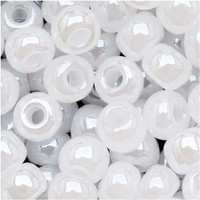 Czech Seed Beads 6/0 White Pearl (1 ounce)