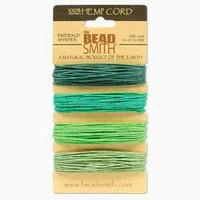 1mm Hemp Twine Bead Cord 20lb test Emerald Shades