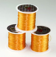 Elastic Stretchy Cord 30 Meters Light Orange