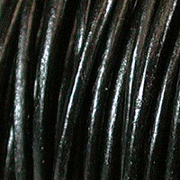 Genuine Leather Cord - 3mm - Round- Black