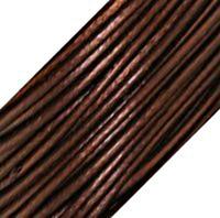 "Genuine Leather Cord - 1mm - Round- Metallic Brown ""Tamba"""