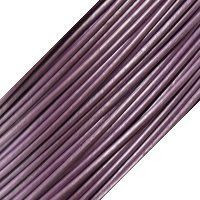 Genuine Leather Cord - 1mm - Round- Lavender Pearl