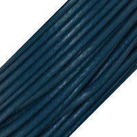 Genuine Leather Cord - 1mm - Round- Iris Blue