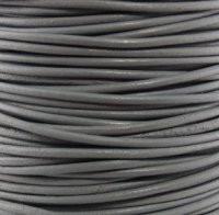 Genuine Leather Cord - 2mm - Round- Dark Gray